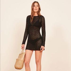 Reformation Birkin Dress Black Small